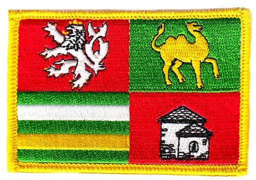 Ricamate REUNION Bandiera Bandiera aufbügler Patch 8 x 5 cm