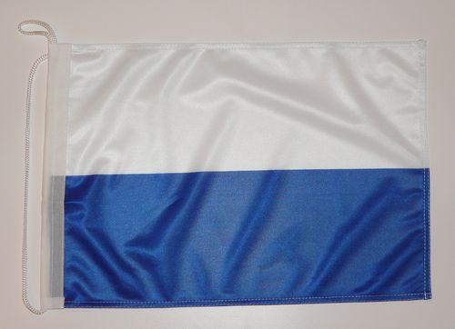 Weiß Bootsflagge Bootsfahne Fahne Blau Flagge