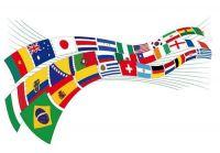 Internationele Flaggenkette 9 m