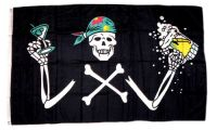 Fahne / Flagge Pirat Bier Party 90 x 150 cm