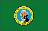 Fahnen Aufkleber Sticker USA - Washington