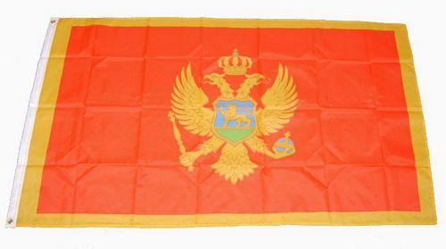 Flagge / Fahne Montenegro Hissflagge 90 x 150 cm