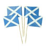 50 Minifahnen Dekopicker Schottland 30 x 40 mm