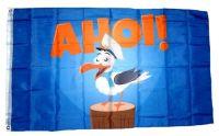 Fahne / Flagge Ahoi Möwe 90 x 150 cm