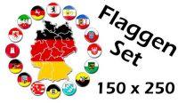 Flaggenset Deutschland 16 Bundesländer 150 x 250 cm
