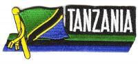 Fahnen Sidekick Aufnäher Tansania