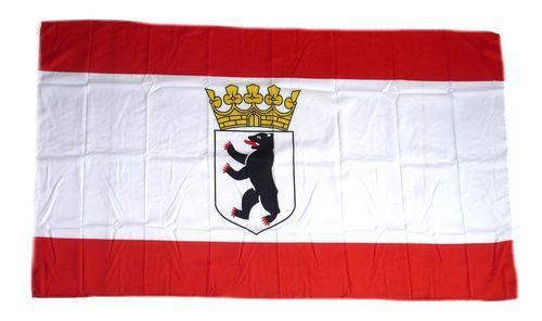 Flagge Fahne Berlin Bär mit Krone 30 x 45 cm