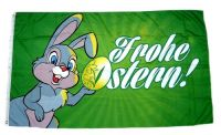 Fahne / Flagge Frohe Ostern Osterhase 90 x 150 cm