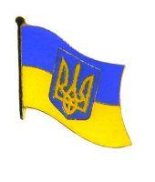 Flaggen Pin Ukraine Wappen NEU Fahne Flagge Anstecknadel