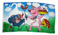 Fahne / Flagge Grillspass 90 x 150 cm