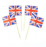 50 Minifahnen Dekopicker Großbritannien 30 x 40 mm
