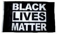 Fahne / Flagge Black Lives Matter schwarz 90 x 150 cm
