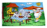 Fahne / Flagge Biergarten Oktoberfest 90 x 150 cm