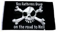 Fahne / Flagge Pirat The Fathoms Deep 90 x 150 cm