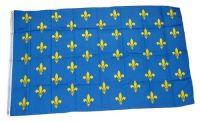 Fahne / Flagge Frankreich Lilienbanner blau 90 x 150 cm