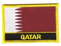 Fahnen Aufnäher Katar Schrift