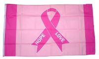 Fahne / Flagge Pink Ribbon Brustkrebs NEU 90 x 150 cm