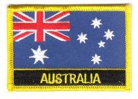 Fahnen Aufnäher Australien Schrift