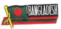 Fahnen Sidekick Aufnäher Bangladesch