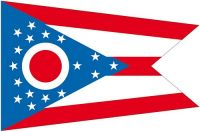 Fahnen Aufkleber Sticker USA - Ohio