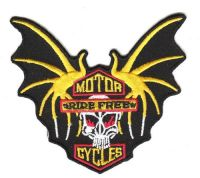 Aufnäher Patch Totenkopf Motorcycle