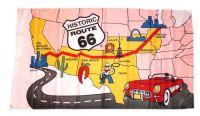 Fahne / Flagge USA - Route 66 90 x 150 cm