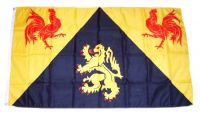 Fahne / Flagge Belgien - Wallonisch Brabant 90 x 150 cm