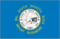 Fahnen Aufkleber Sticker USA - South Dakota