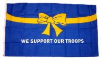 Fahne / Flagge USA - We support our Troups 90 x 150 cm