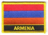 Fahnen Aufnäher Armenien Schrift