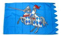 Fahne / Flagge Ritter mit Pferd blau 90 x 150 cm