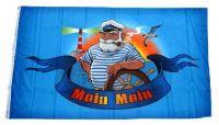 Fahne / Flagge Moin Moin Seemann 90 x 150 cm