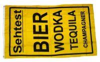 Fahne / Flagge Sehtest Bier Wodka 90 x 150 cm