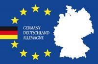 Fahnen Aufkleber Sticker Europa Deutschland Schrift