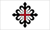 Fahne / Flagge Orden von Montesa 90 x 150 cm