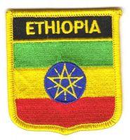 Wappen Aufnäher Fahne Äthiopien