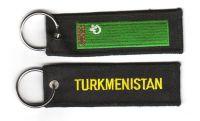 Fahnen Schlüsselanhänger Turkmenistan