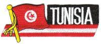 Fahnen Sidekick Aufnäher Tunesien