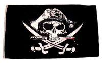 Fahne / Flagge Pirat blutiger Dolch 60 x 90 cm