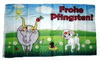 Fahne / Flagge Frohe Pfingsten Schaf 90 x 150 cm