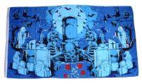 Fahne / Flagge Totenkopf Friedhof 90 x 150 cm