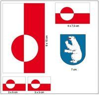 Fahnen Aufkleber Set Grönland