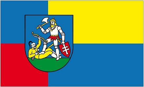 Fahne / Flagge Slowakei - Nitra 90 x 150 cm