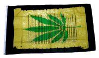 Fahne / Flagge Hanfblatt Marijuana 90 x 150 cm