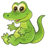Aufkleber Sticker Krokodil Alligator