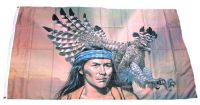Fahne / Flagge Indianer Adler 90 x 150 cm