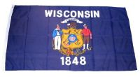 Fahne / Flagge USA - Wisconsin 90 x 150 cm