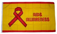 Fahne / Flagge Aids Awareness 90 x 150 cm
