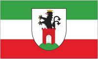 Fahne / Flagge Bergen auf Rügen 90 x 150 cm