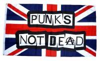 Fahne / Flagge Großbritannien Punks not Dead 90 x 150 cm